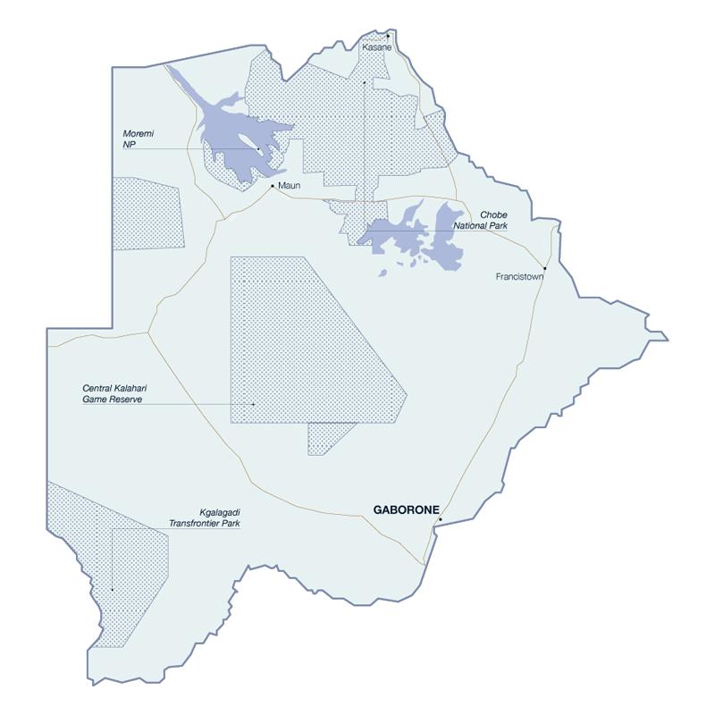 La Carte du Botswana