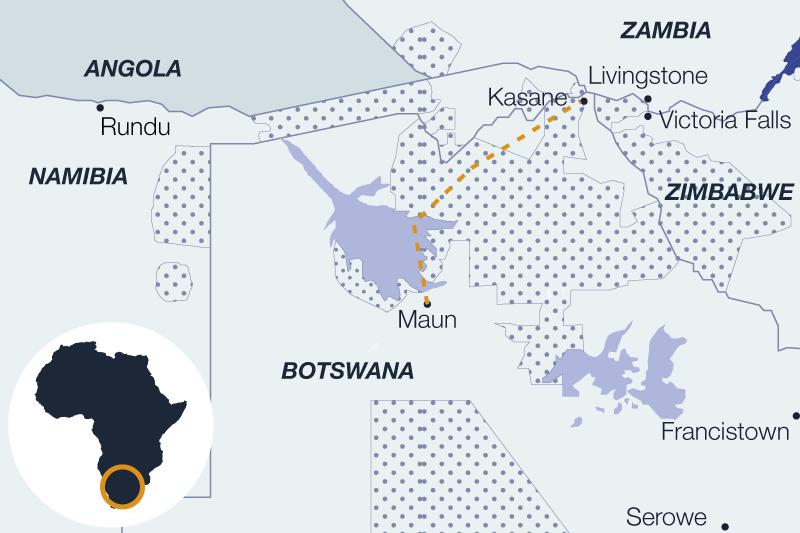 Carte de la découverte du nord du Botswana en safari itinérant