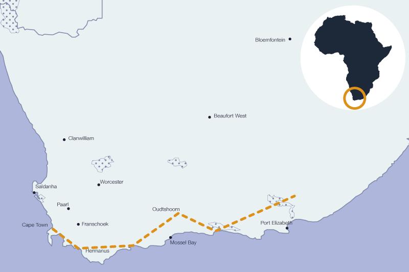 Voyage sur la route des jardins en Afrique du Sud