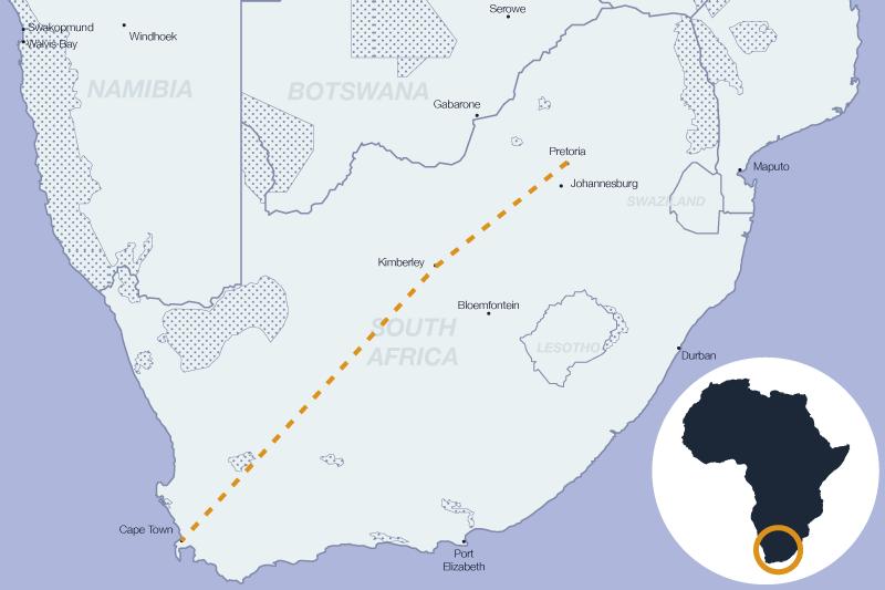 Voyager en train de luxe en Afrique du Sud