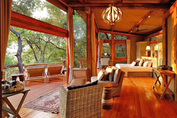 Delta de l'Okavango hébergement lodge confort Afrique