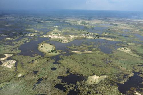 vue aérienne en afrique