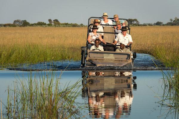 Delta de l'Okavango excursion en voiture eau animaux