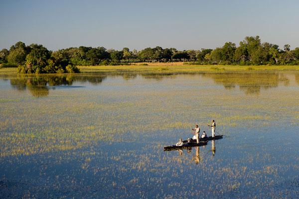 Delta de l'Okavango Afrique activités mokoro
