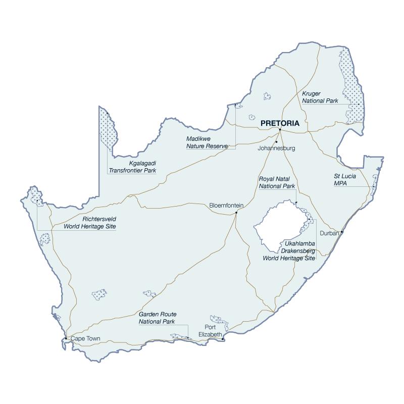 La Carte de l'Afrique du Sud