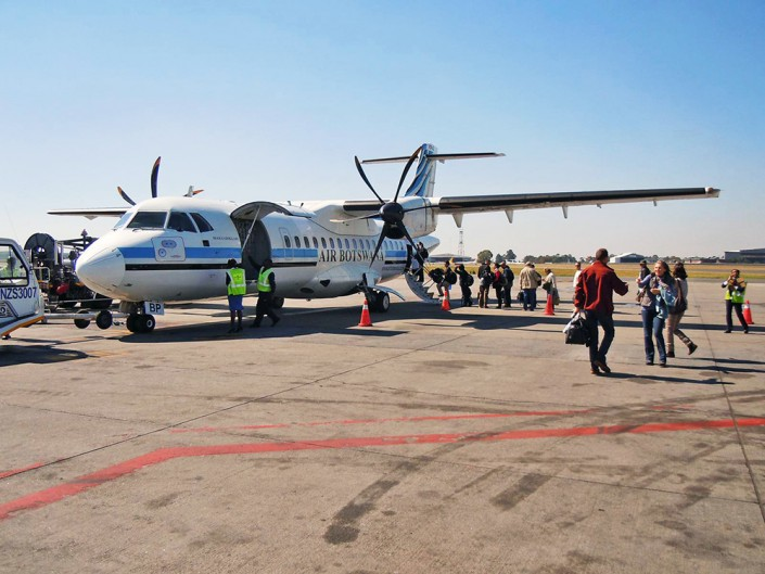 Atterrissage à l'aéroport de Maun
