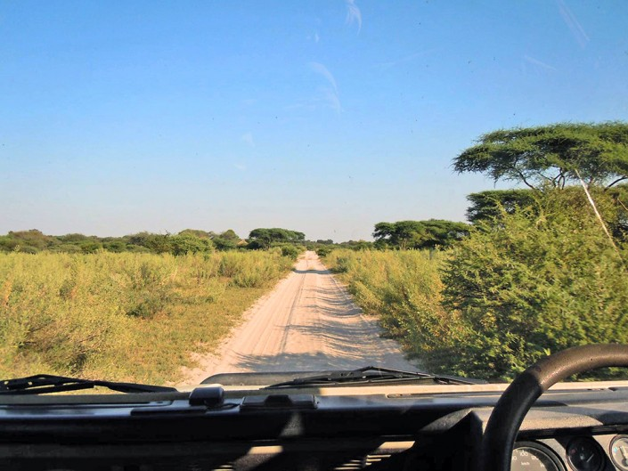 Les routes dans le Delta de l'Okavango