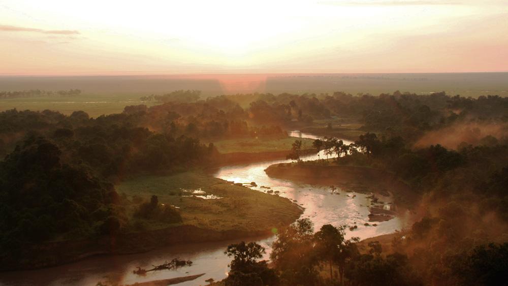 rivière dans le parc national du serengeti en Tanzanie